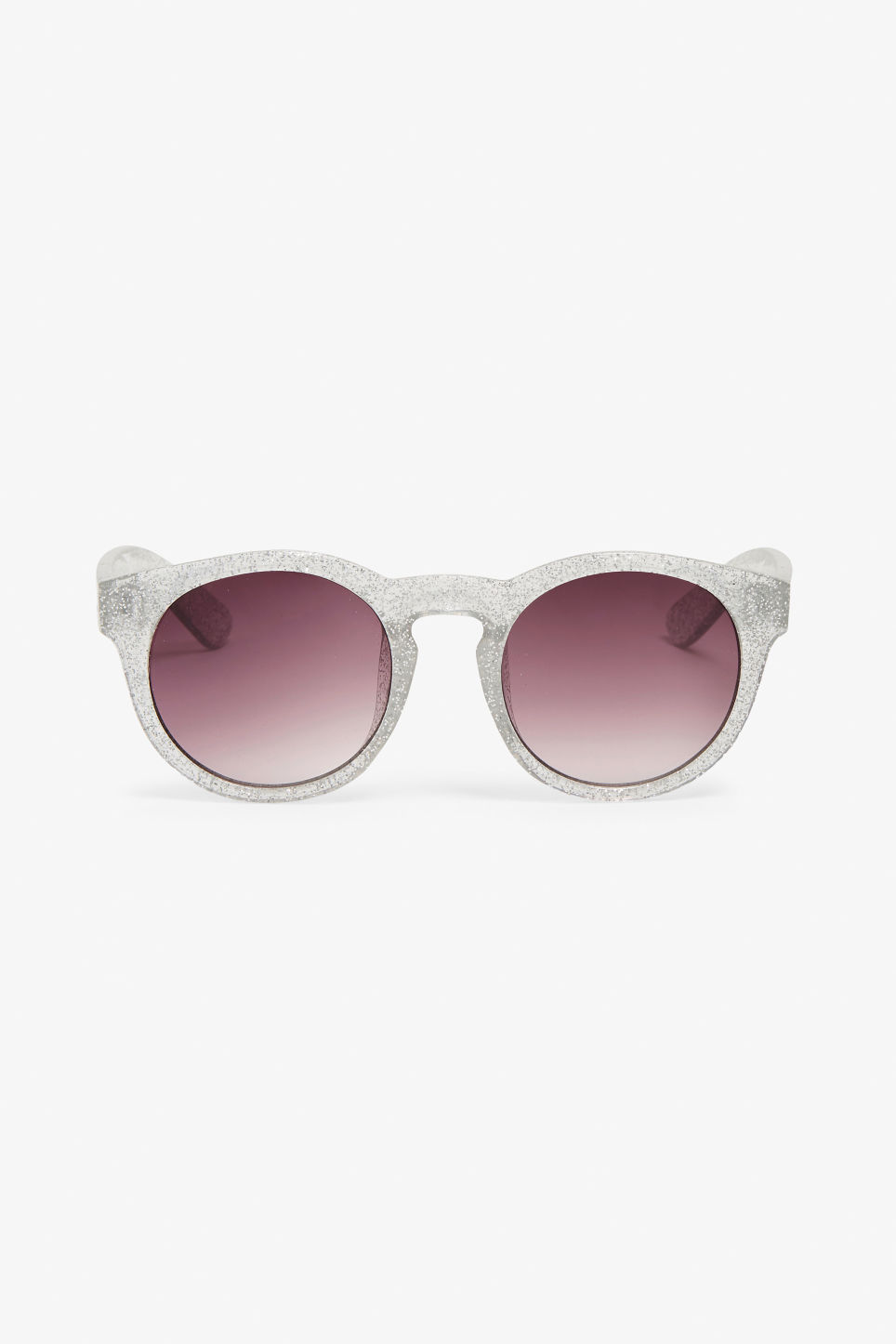 Front image of Monki round lense sunglasses in white