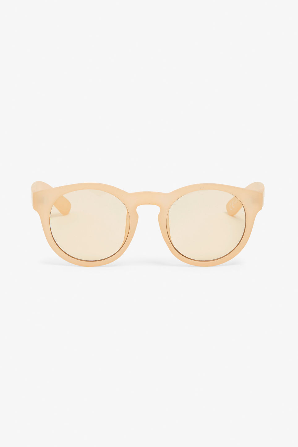 Front image of Monki round lense sunglasses in yellow