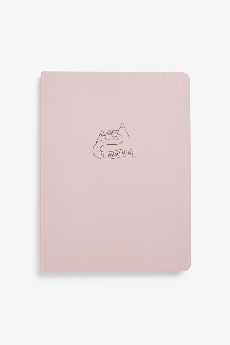 Front image of Monki statement journal in pink