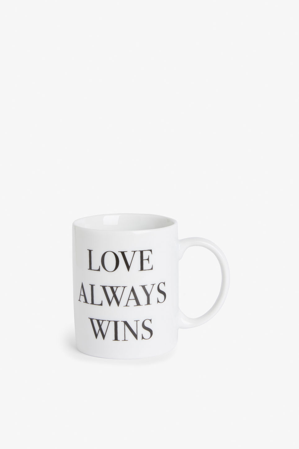 Front image of Monki statement mug in white