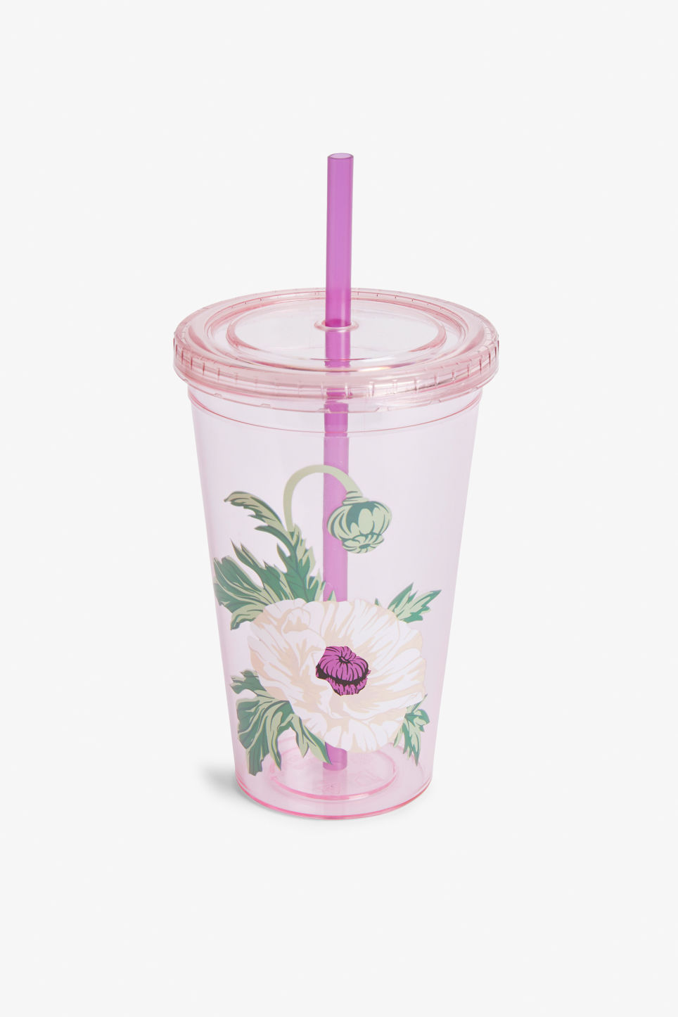 Front image of Monki monki juice mug in pink
