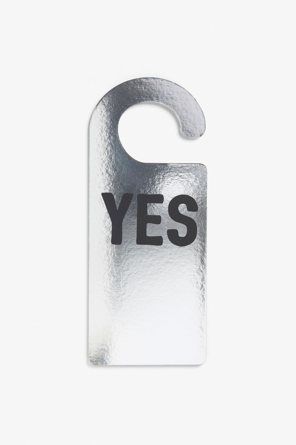 Front image of Monki monki door hanger in silver