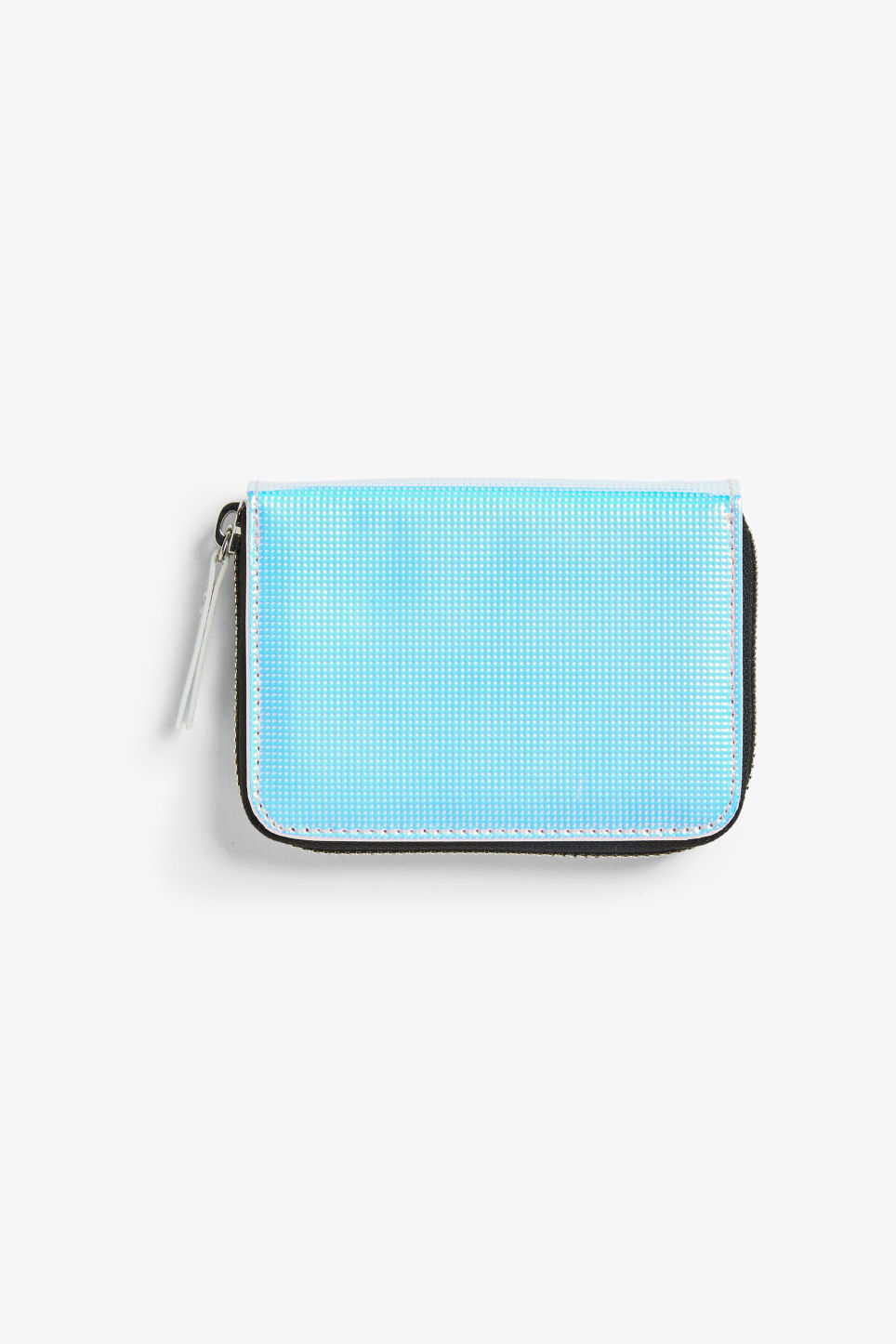 Front image of Monki zippered wallet in white