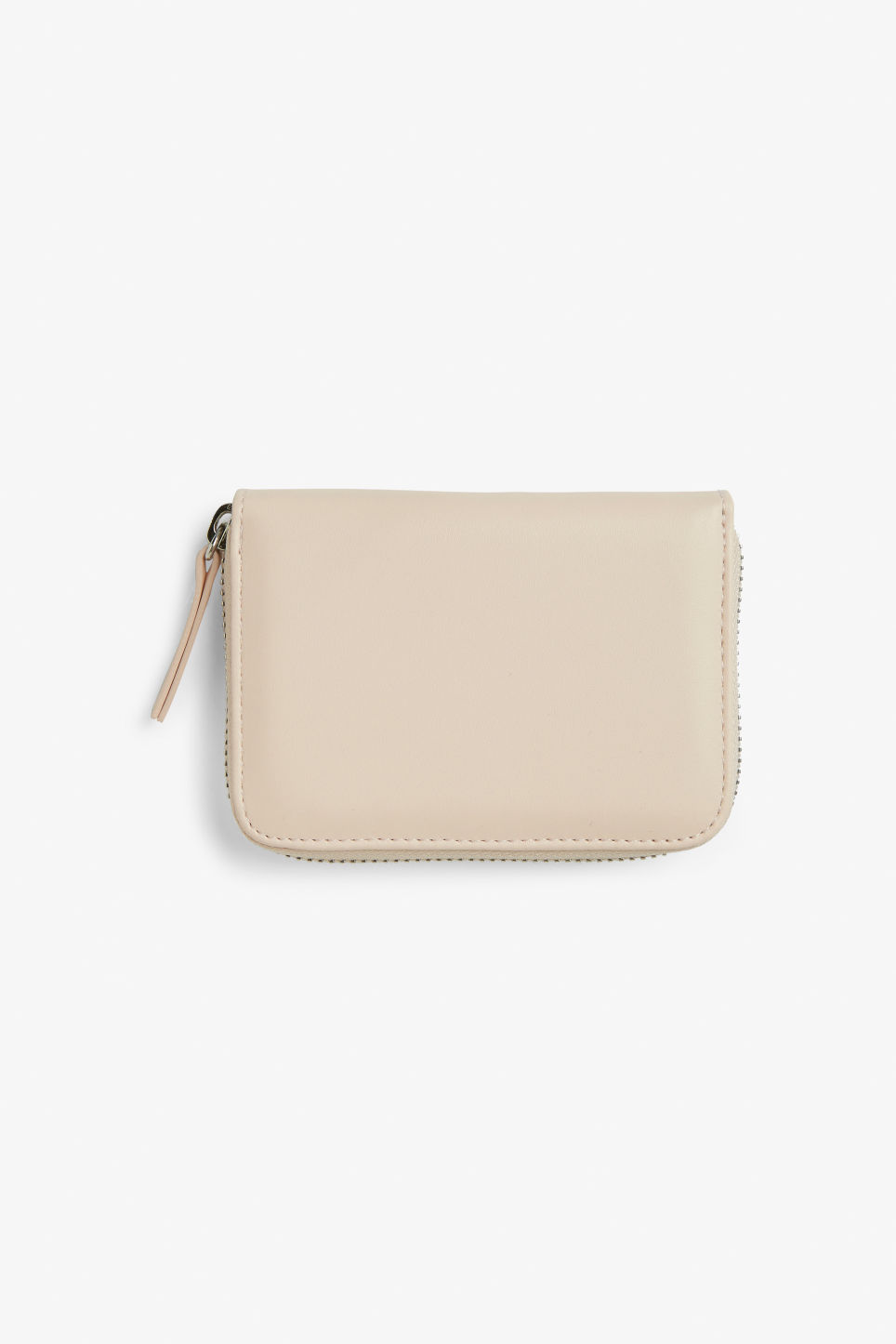 Front image of Monki zippered wallet in pink