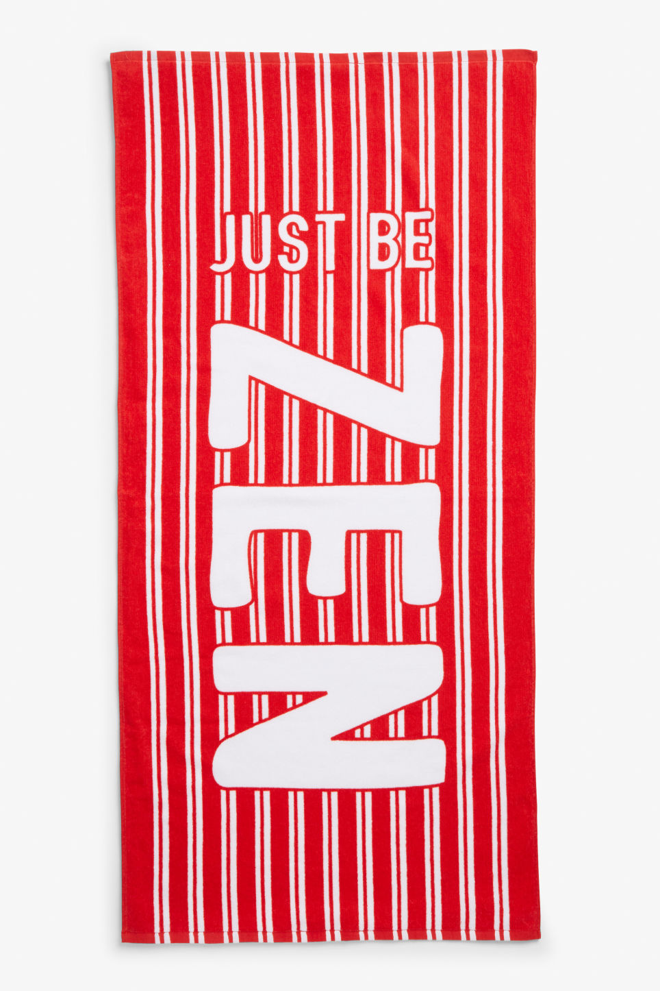 Front image of Monki beachy towel in red