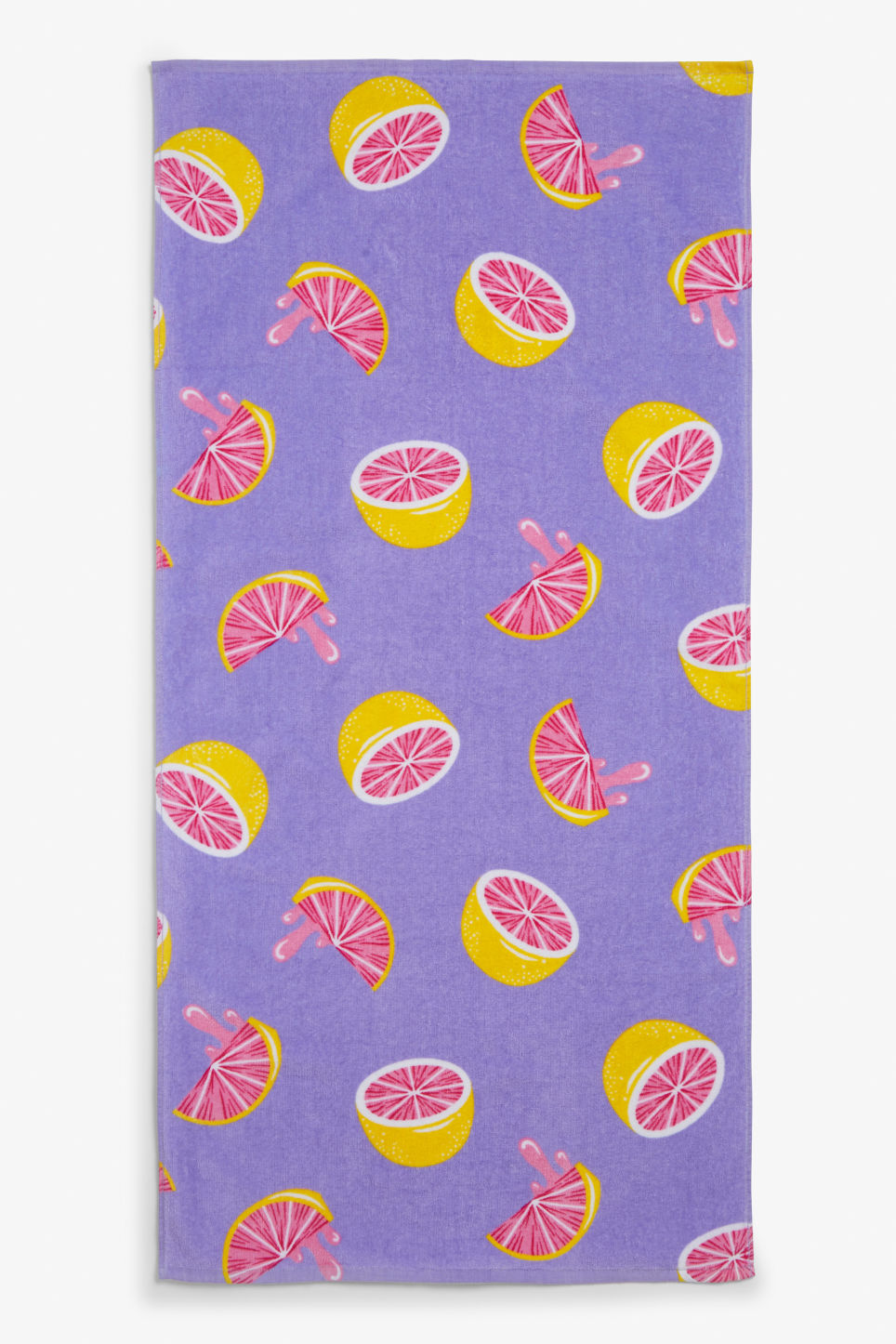 Front image of Monki beachy towel in purple