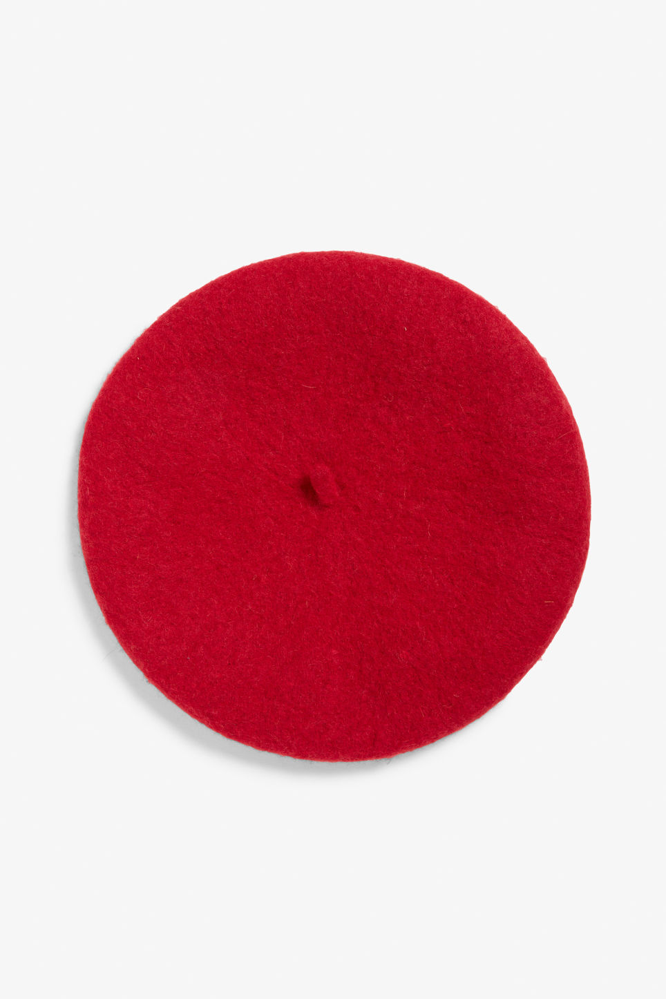Front image of Monki classic beret in red