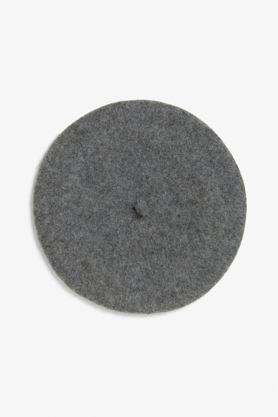 Front image of Monki classic beret in grey