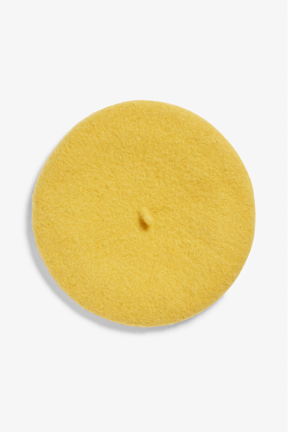 Front image of Monki classic beret in yellow
