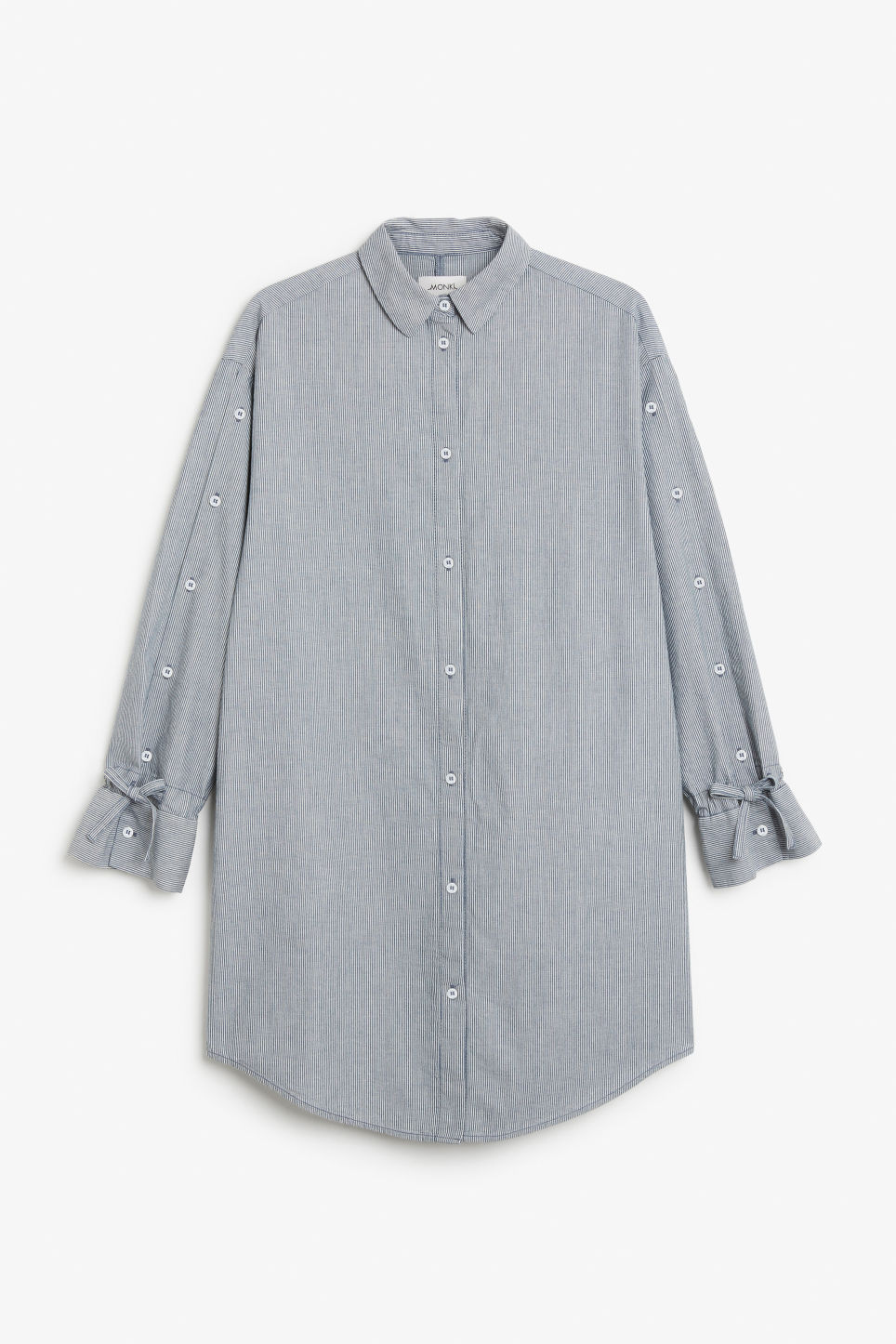 Front image of Monki shirt dress in blue