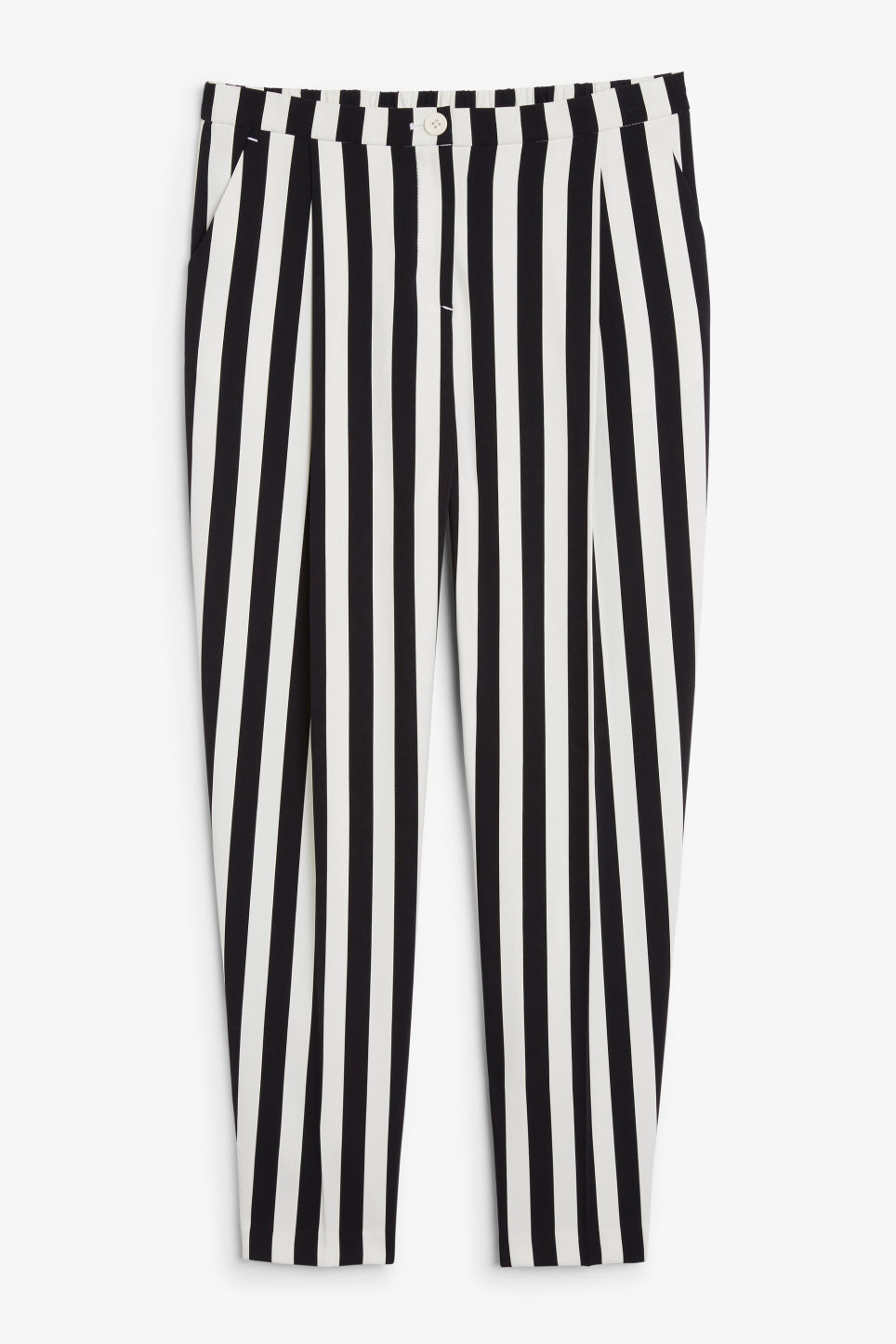 Front image of Monki dressy trousers in white