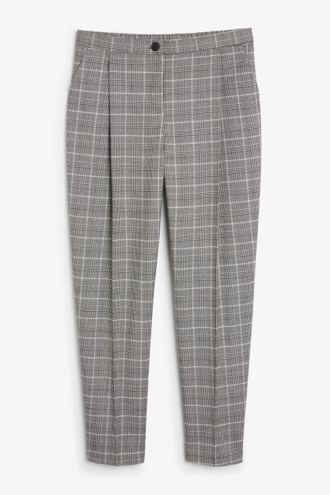 Front image of Monki dressy trousers in grey
