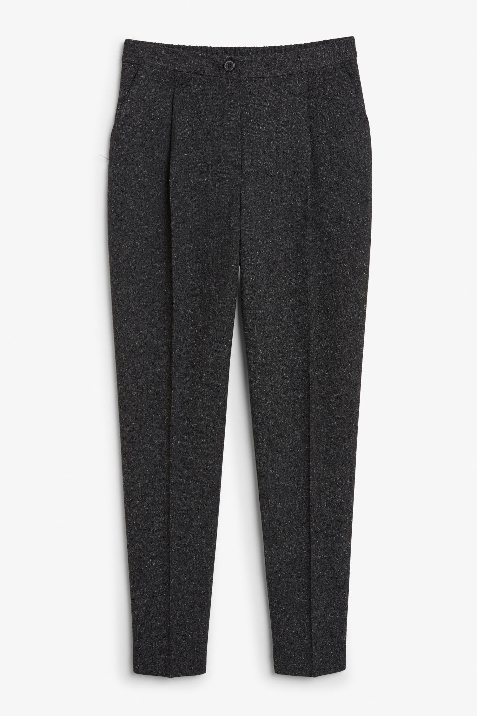 Front image of Monki dressy tapered trousers in grey