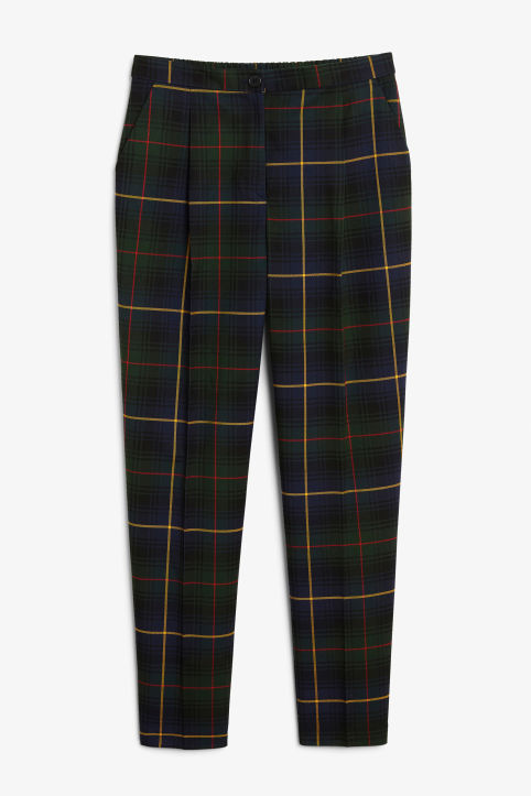 Dressy tapered trousers