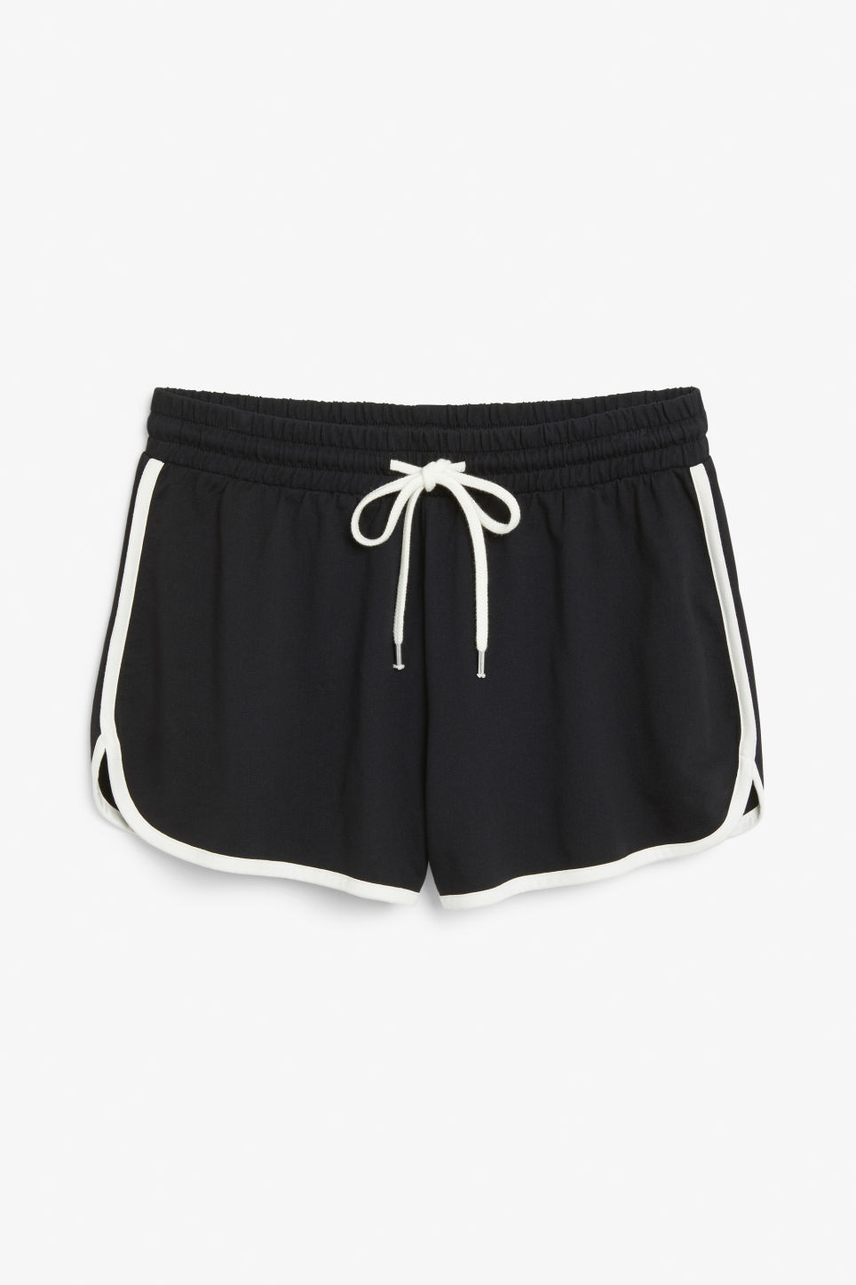 Front image of Monki sporty shorts in black