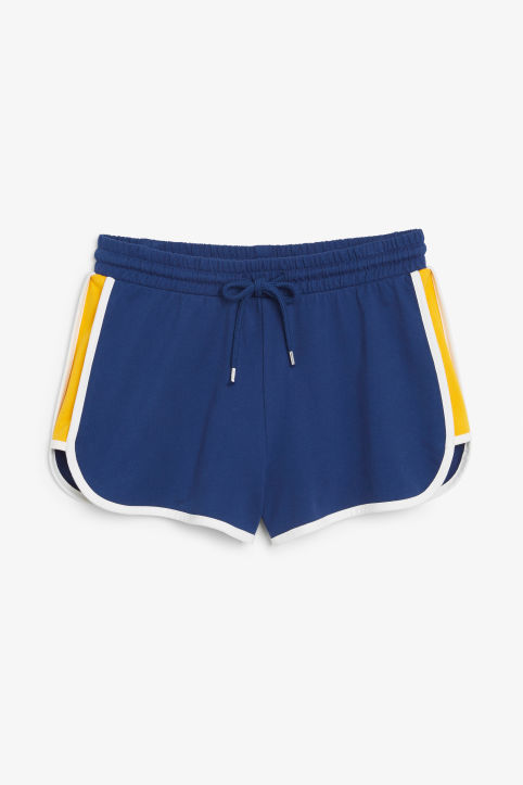 Front image of Monki sporty shorts in blue