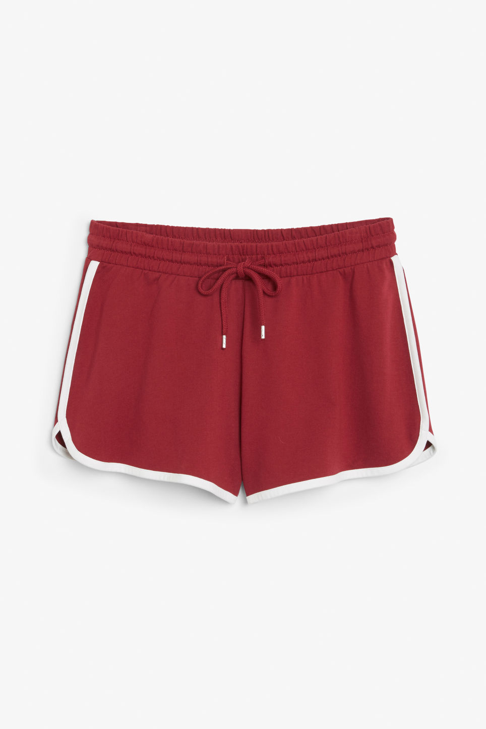 Front image of Monki sporty shorts in red