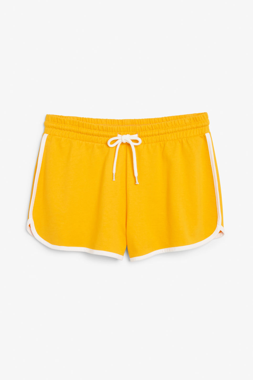 Front image of Monki sporty shorts in yellow