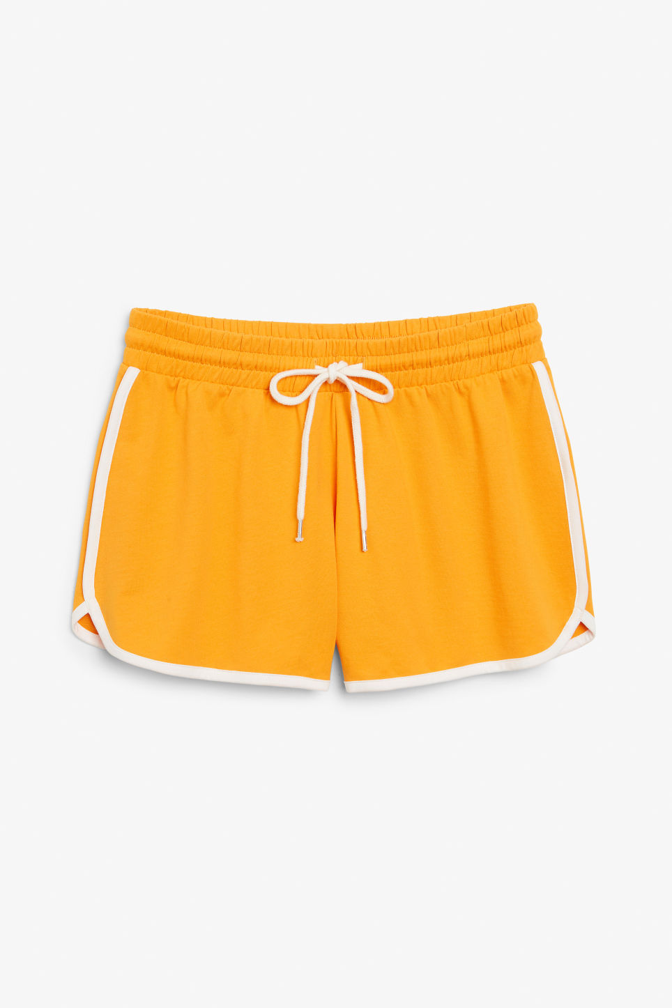 Front image of Monki sporty shorts in orange