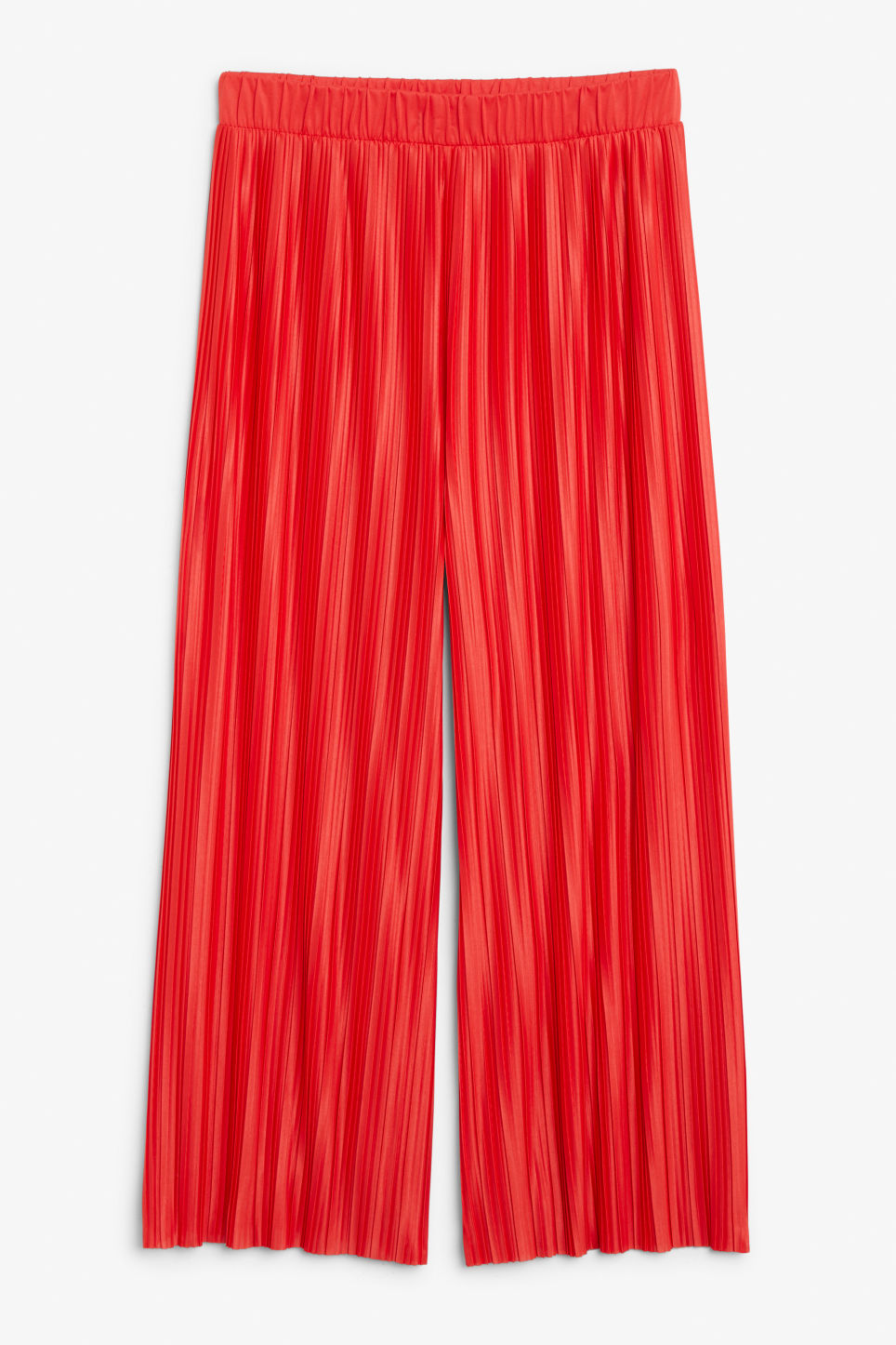 Front image of Monki flowy trousers in red