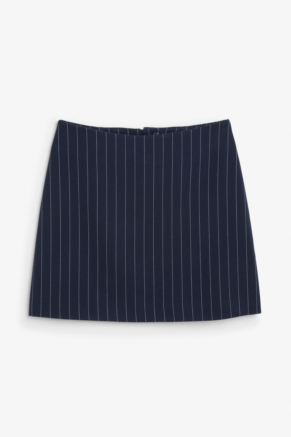 Front image of Monki mini skirt in blue