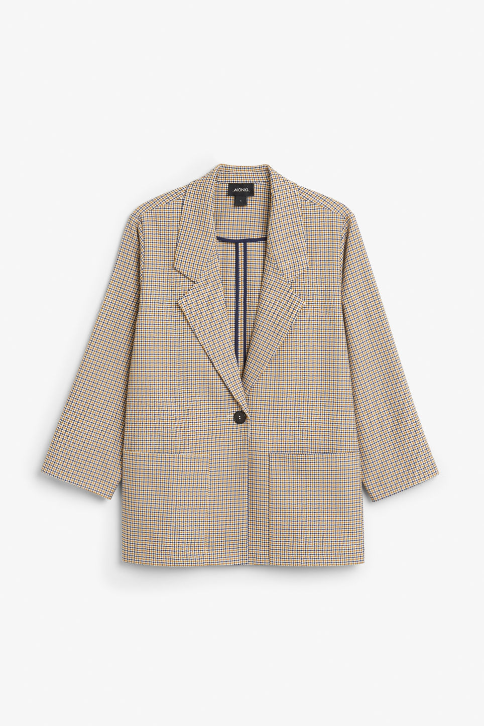 Front image of Monki long blazer  in yellow