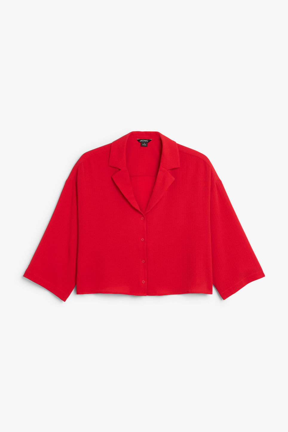 Front image of Monki flowy blouse in red