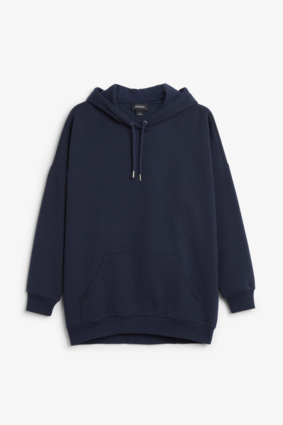 Front image of Monki oversized hoodie in blue