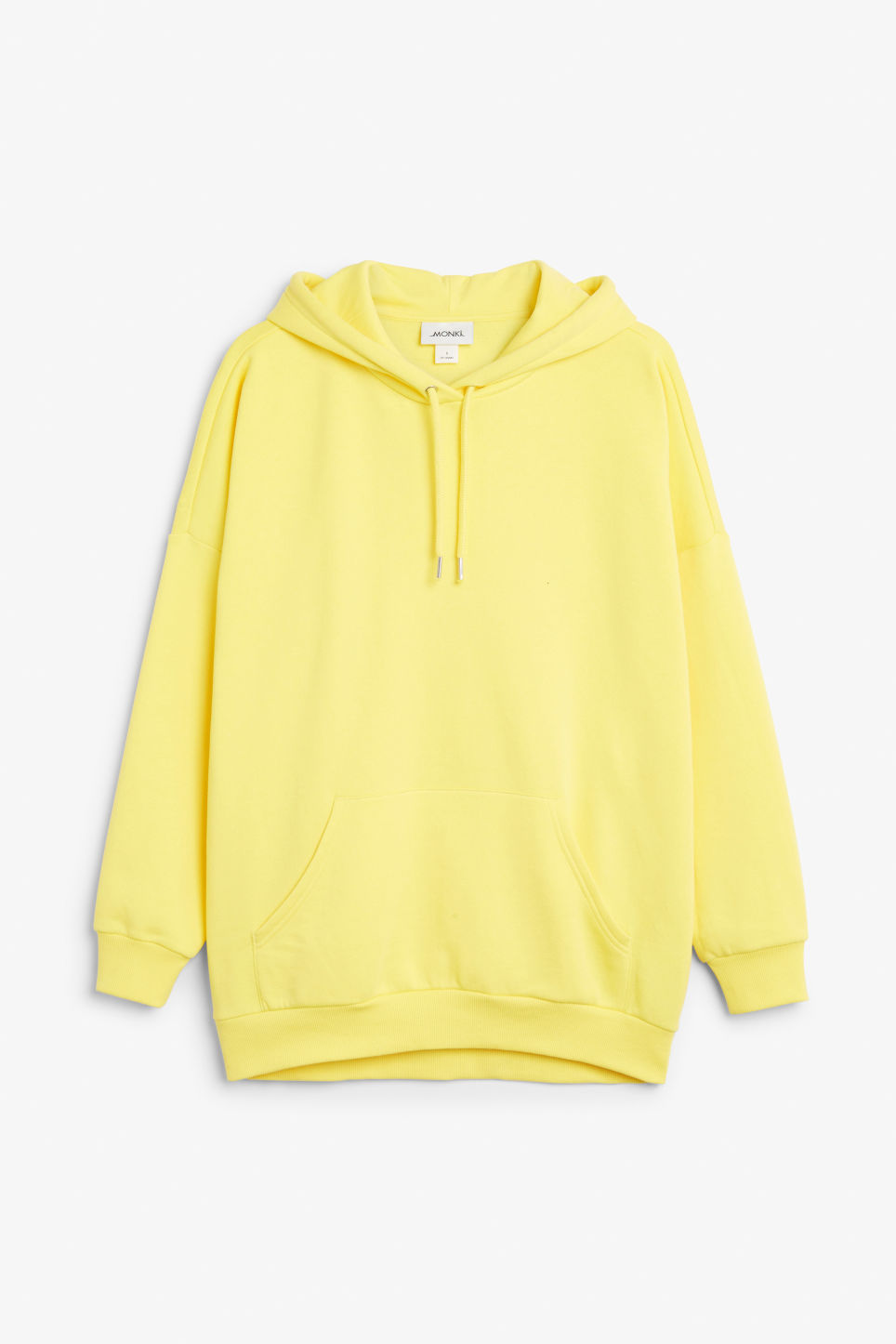 Front image of Monki oversized hoodie in yellow