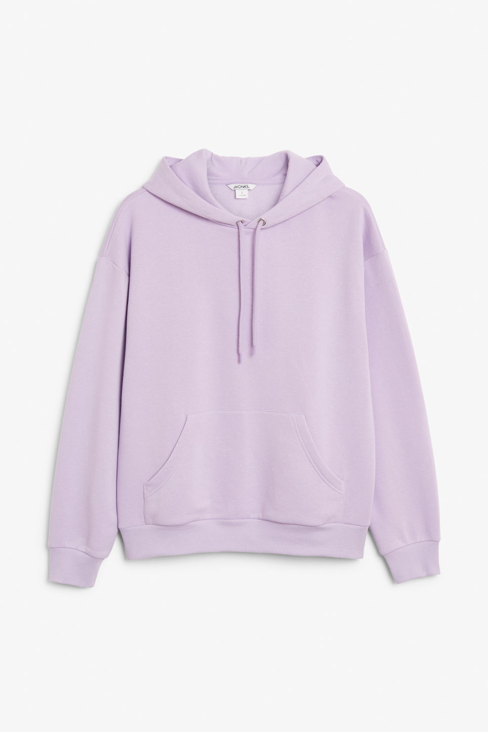 Front image of Monki classic hoodie in purple