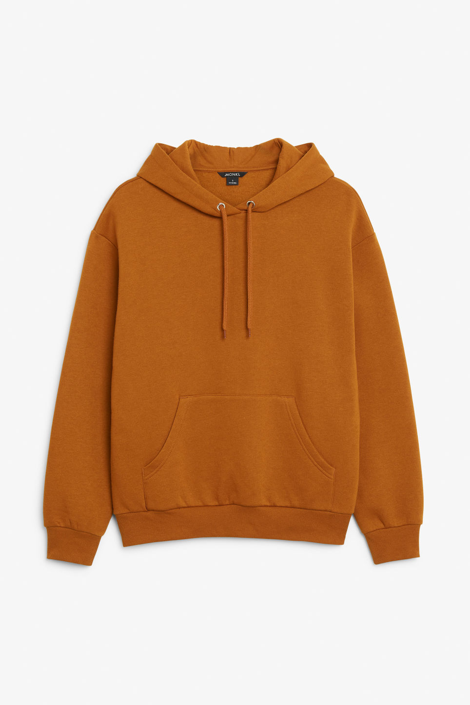 Front image of Monki classic hoodie in orange
