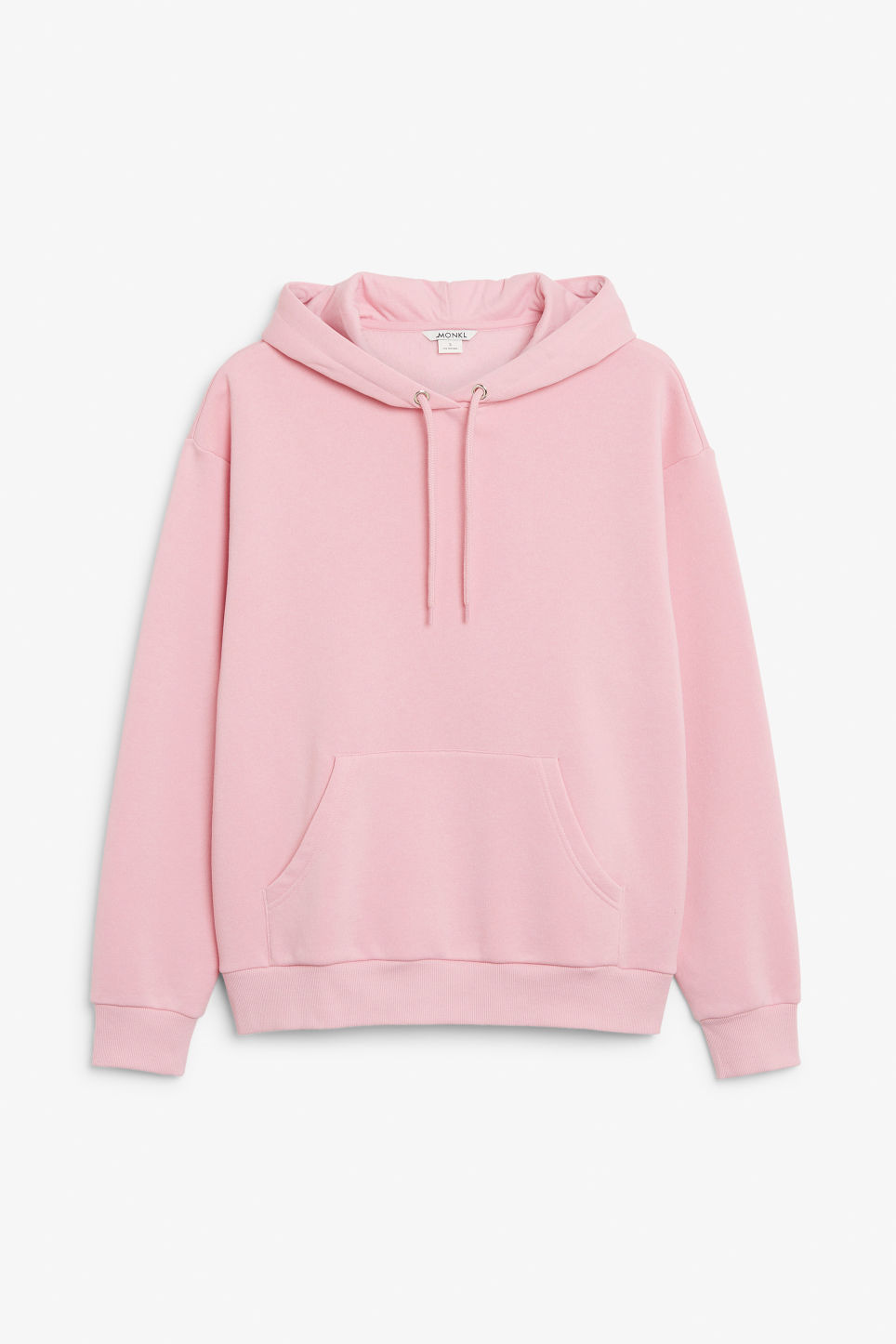 Front image of Monki classic hoodie in pink