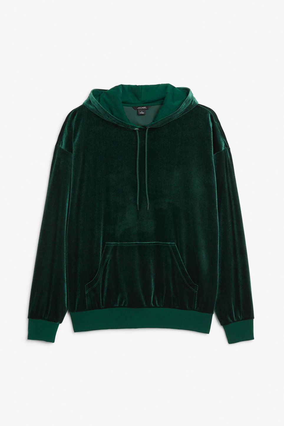 Front image of Monki classic hoodie in green
