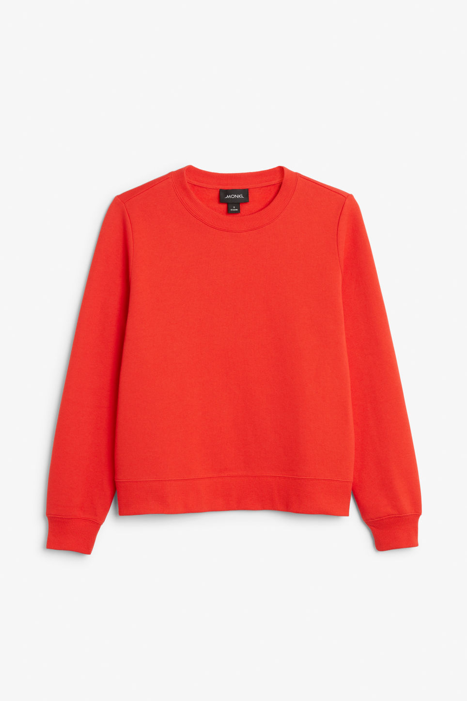 Front image of Monki long-sleeved sweater in red