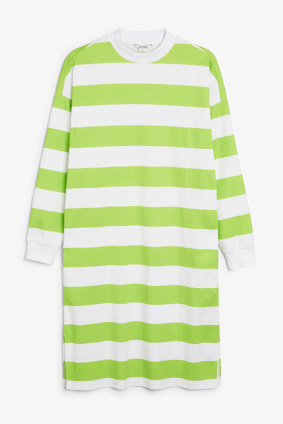 Front image of Monki oversize sweater dress in green