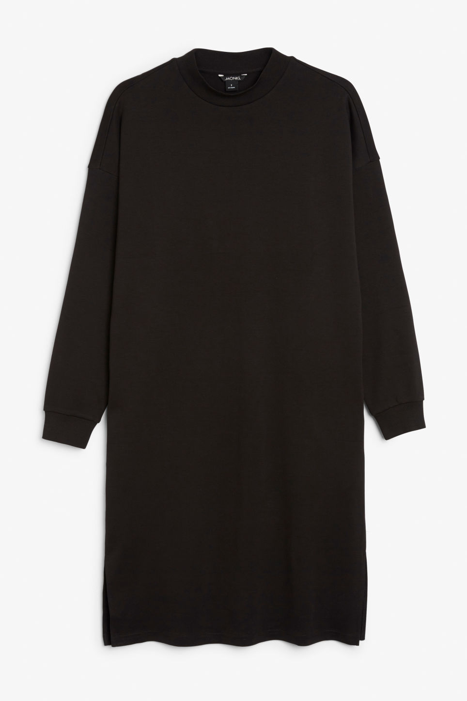 Front image of Monki oversize sweater dress in black