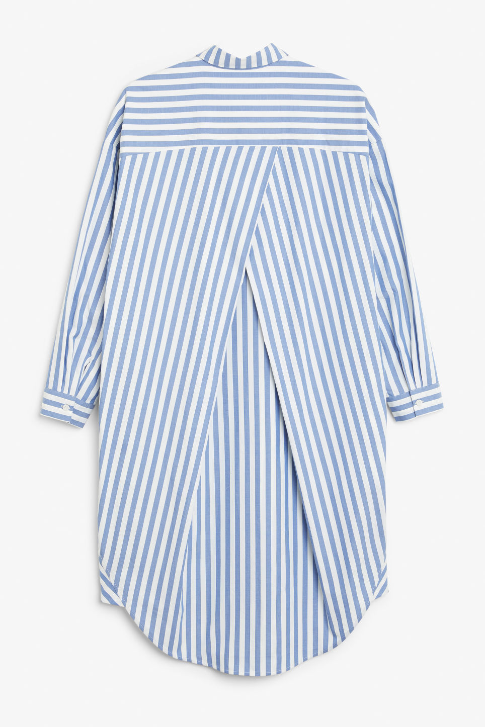 Back image of Monki oversized shirt dress in blue