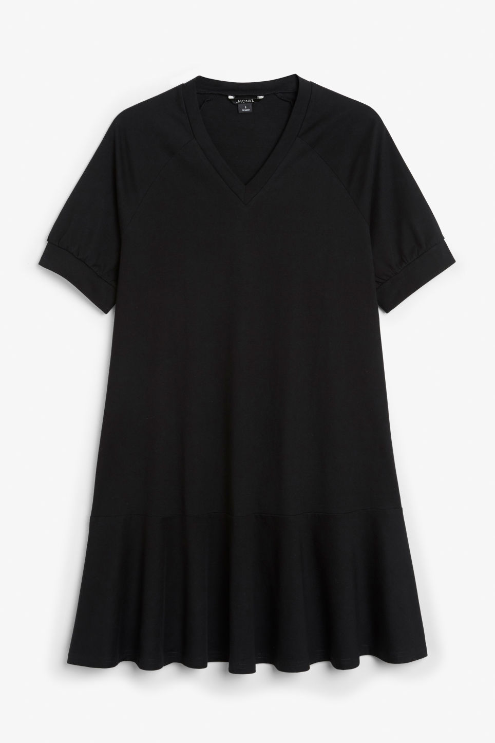 Front image of Monki oversized raglan dress in black