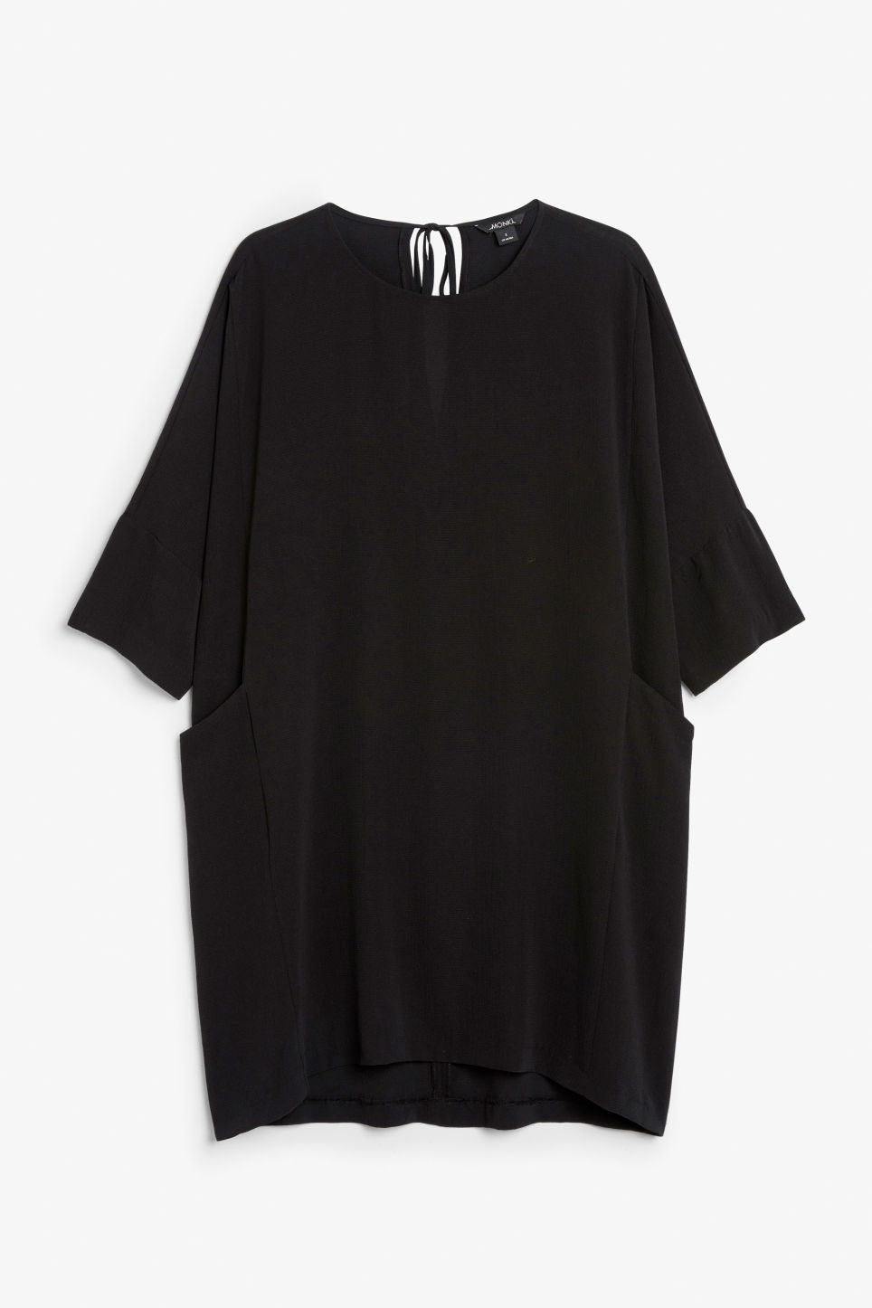 Front image of Monki flowy dress in black