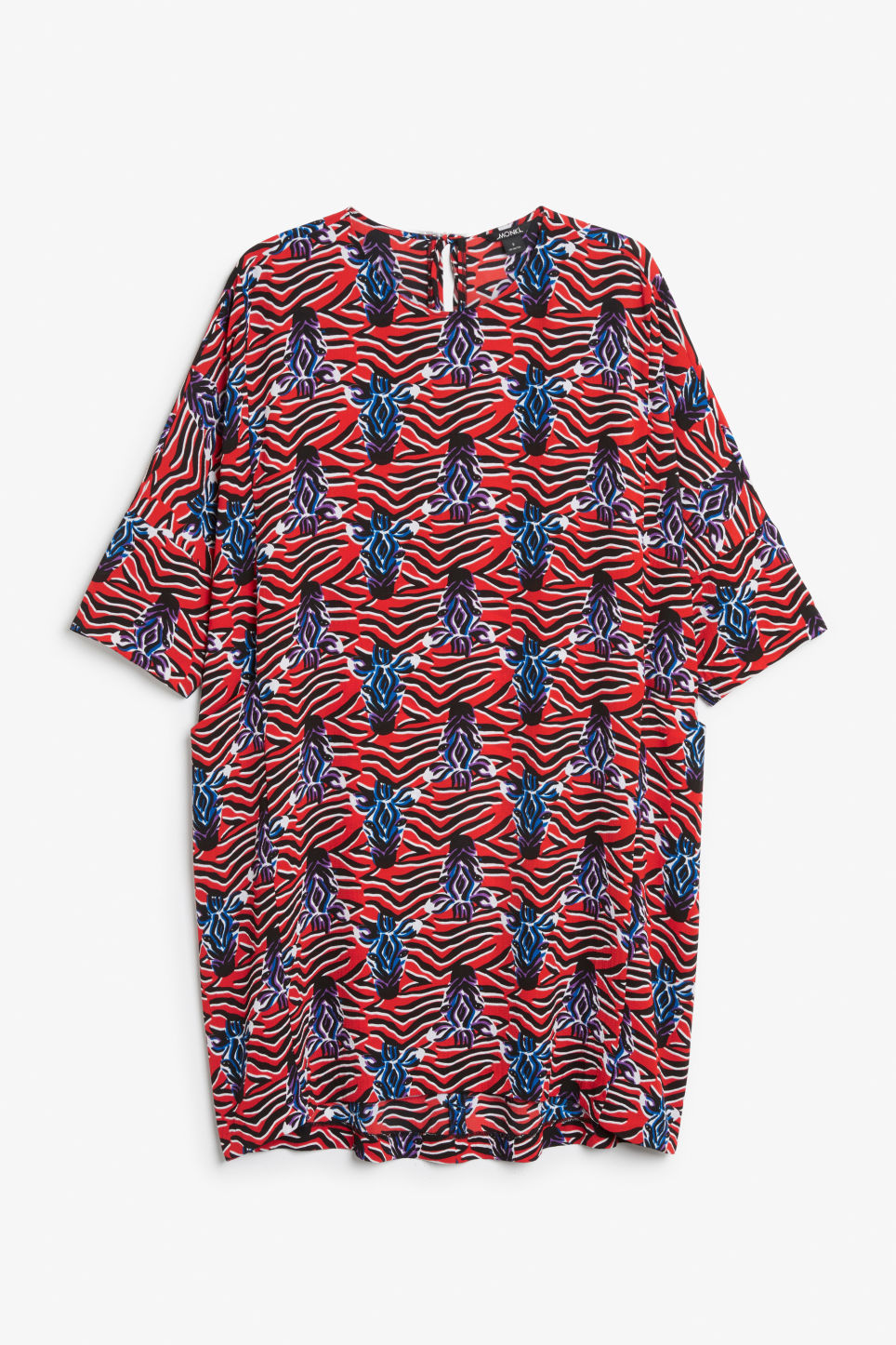 Front image of Monki flowy dress in red