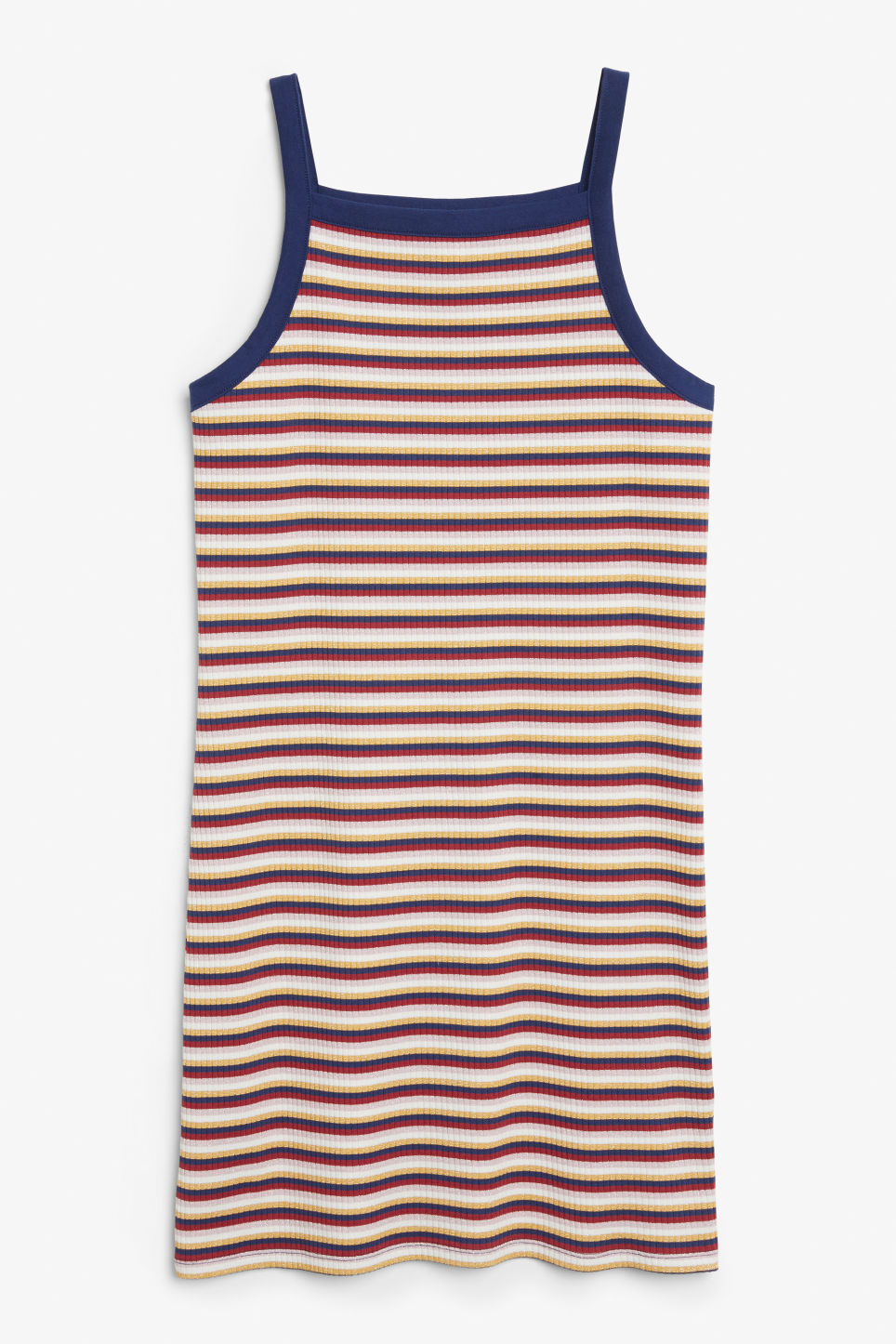 Front image of Monki ribbed dress  in blue