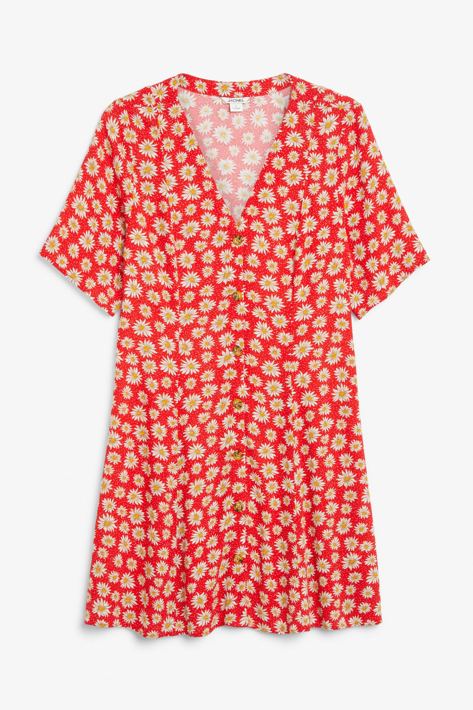 Front image of Monki retro skater dress in red