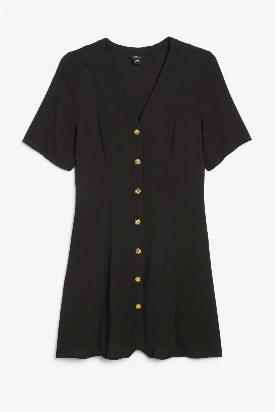 Front image of Monki retro skater dress in black