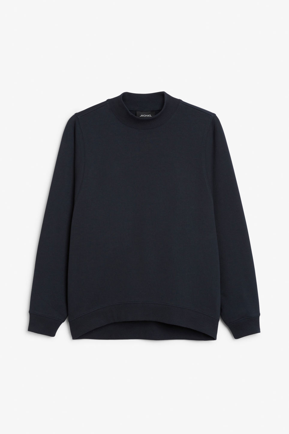 Front image of Monki oversized sweater in blue