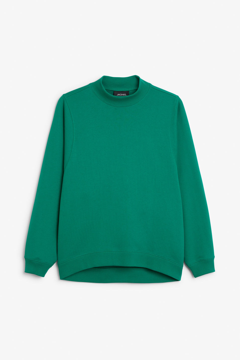 Front image of Monki oversized sweater in green