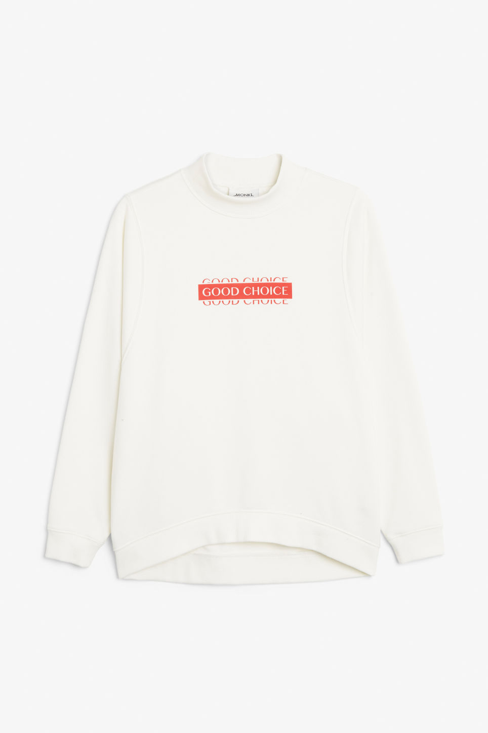 Front image of Monki oversized sweater in white