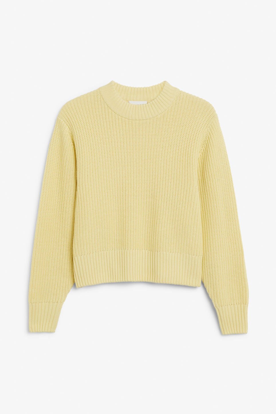 Front image of Monki puffed sleeve sweater in yellow