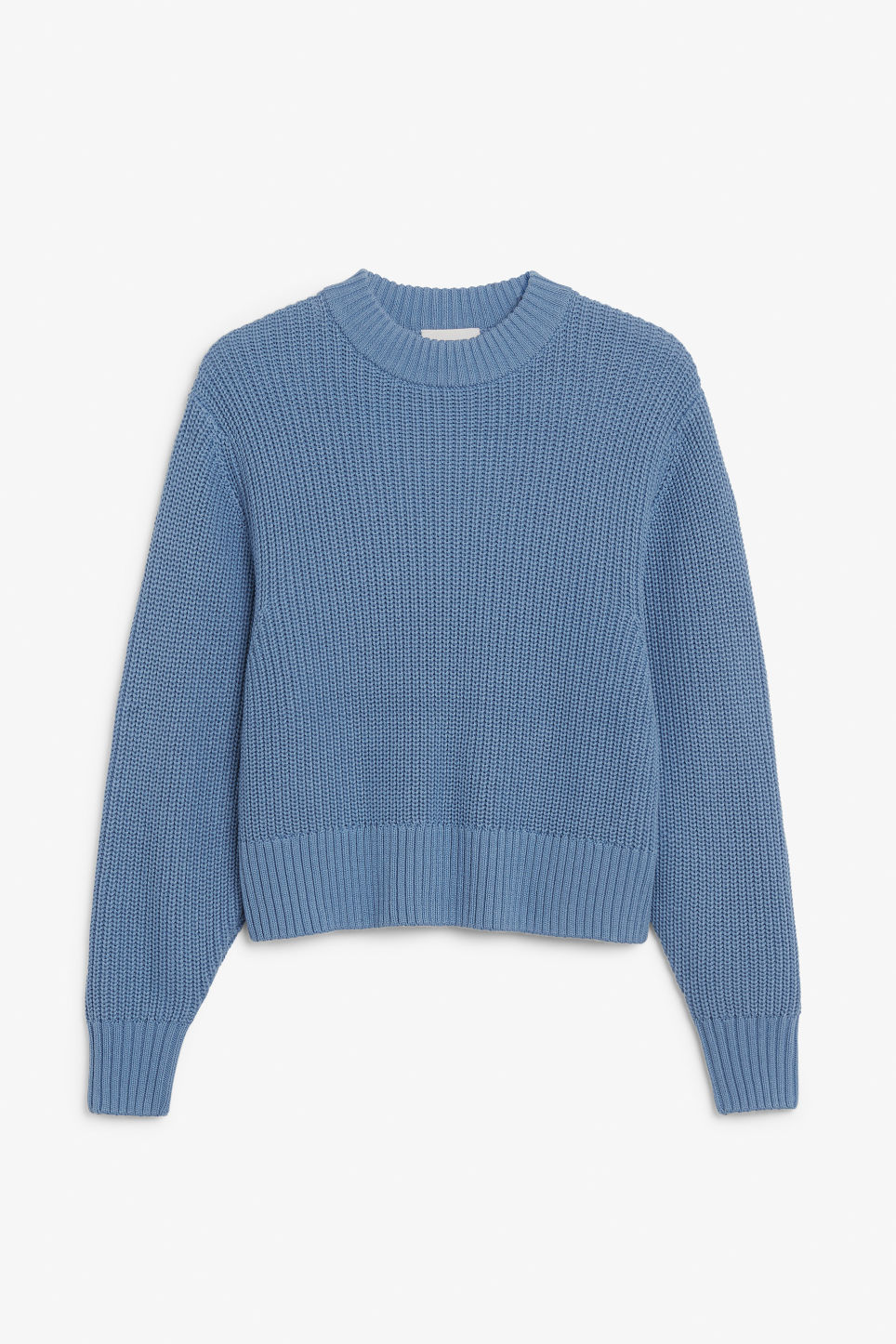 Front image of Monki puffed sleeve sweater in blue