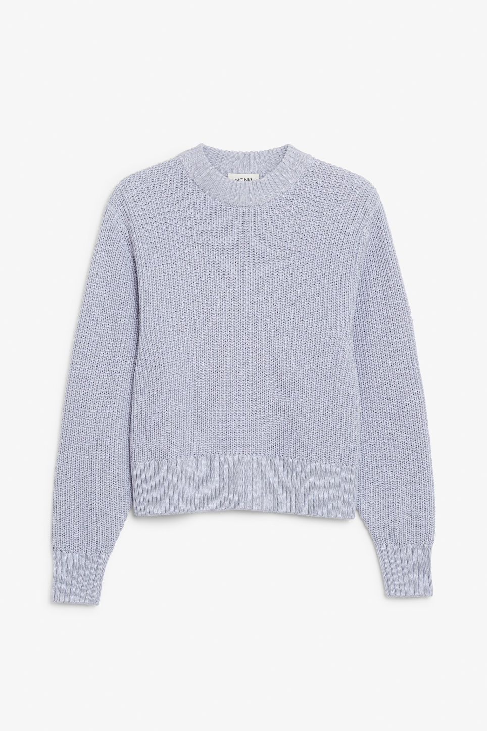 Front image of Monki puffed sleeve sweater in purple