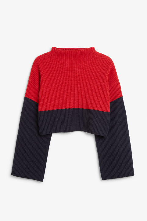 Chunky low turtleneck sweater
